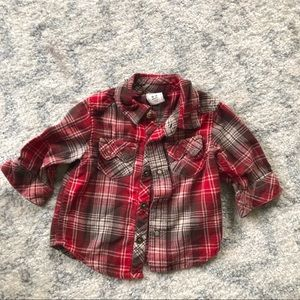Old navy plaid button-down 3m